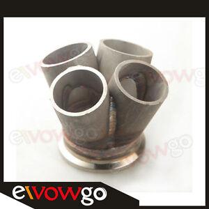 2-5-034-V-Band-Vband-4-1-4-Cylinder-Manifold-Header-Merge-Collector-Stainless-Steel
