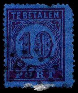 1870-NETHERLANDS-J2-POSTAGE-DUE-USED-F-VF-CV-20-00-ESP-1849