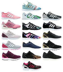 Image is loading Adidas-ZX-FLUX-W-Smooth-Women-Sneaker-Women-