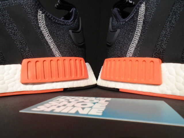 ADIDAS NMD R1 DARK DARK DARK GREY SEMI SOLAR RED ORANGE WHITE WOOL S31510 ULTRA BOOST 8.5 891406