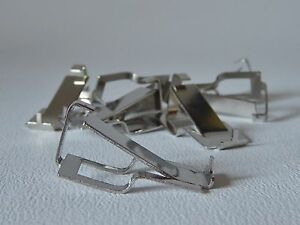 EIGHT-SWISS-D-CLIPS-FRAMELESS-PICTURE-MOUNTS-MAX-THICKNESS-10mm-FIXING