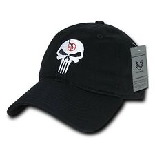 Black Punisher Skull Military Navy Seal Special Forces Polo Baseball Hat Cap