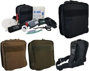 ELITE FIRST AID Enhanced IFAK Kit LvL-2 STOCKED Tactical Trauma Medic Set