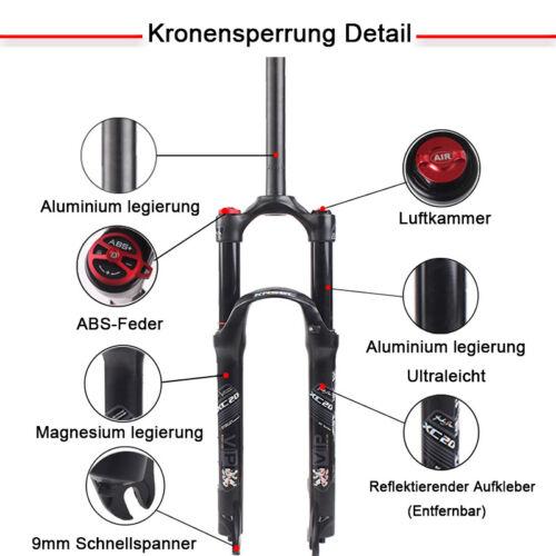 Radsport KRSEC 26/ 27.5/29120mm Aluminium Schwarz MTB Federgabel Fahrrad Gabeln/Gabel Fahrradteile & -komponenten