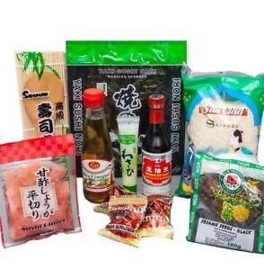 sushi starter set 9 teilig gratis reisl ffel wasabi nori gari ingwer sushiset ebay. Black Bedroom Furniture Sets. Home Design Ideas