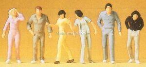 H0-Preiser-14001-Caminando-transeuntes-figuras-emb-orig