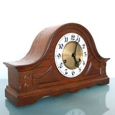 HERMLE Vintage Mantel Clock DARK WOOD! Mid Century 3 BAR CHIME! Germany SERVICED