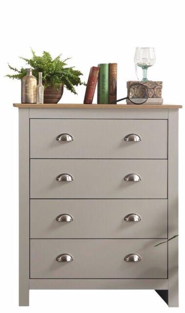 Lancaster Bedroom Furniture 4 Drawer Chest Grey