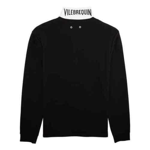 100/%Original VILEBREQUIN St.Tropez Cotton Langarm Poloshirt black Gr.XXL 56 NEU