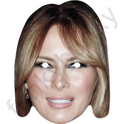 Ivana Trump Celebrity Fancy Dress Card Mask All Masks Are Pre-Cut