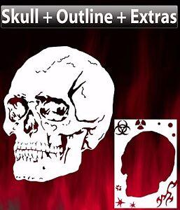 skull 9 airbrush stencil spray vision template air brush ebay