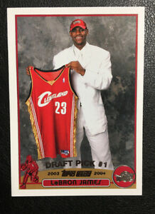 2003-04-Topps-Basketball-LeBron-James-Rookie-Card-221-RC