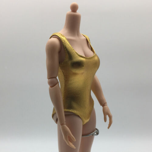 1//6th Scale Metallic Colored Leotard Outfits for 12/'/' Female Action Figure Body