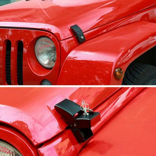 Pair Black Locking Hood Look Catch Latches Set for 2007-2018 Jeep Wrangler JK