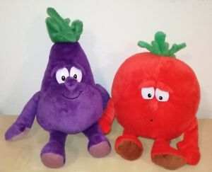 Peluche-Vitamine-Coop-Tomate-Aubergine-Bonhommes-Bonte-Gang-Plush-Souple-Toys