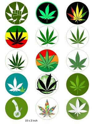 Pot Weed Party Supplies Weed Image for Cupcakes Weed Image for Cake Weed Theme Colorful Weed Pot Leafs EDIBLE Cake Topper Image Cupcakes