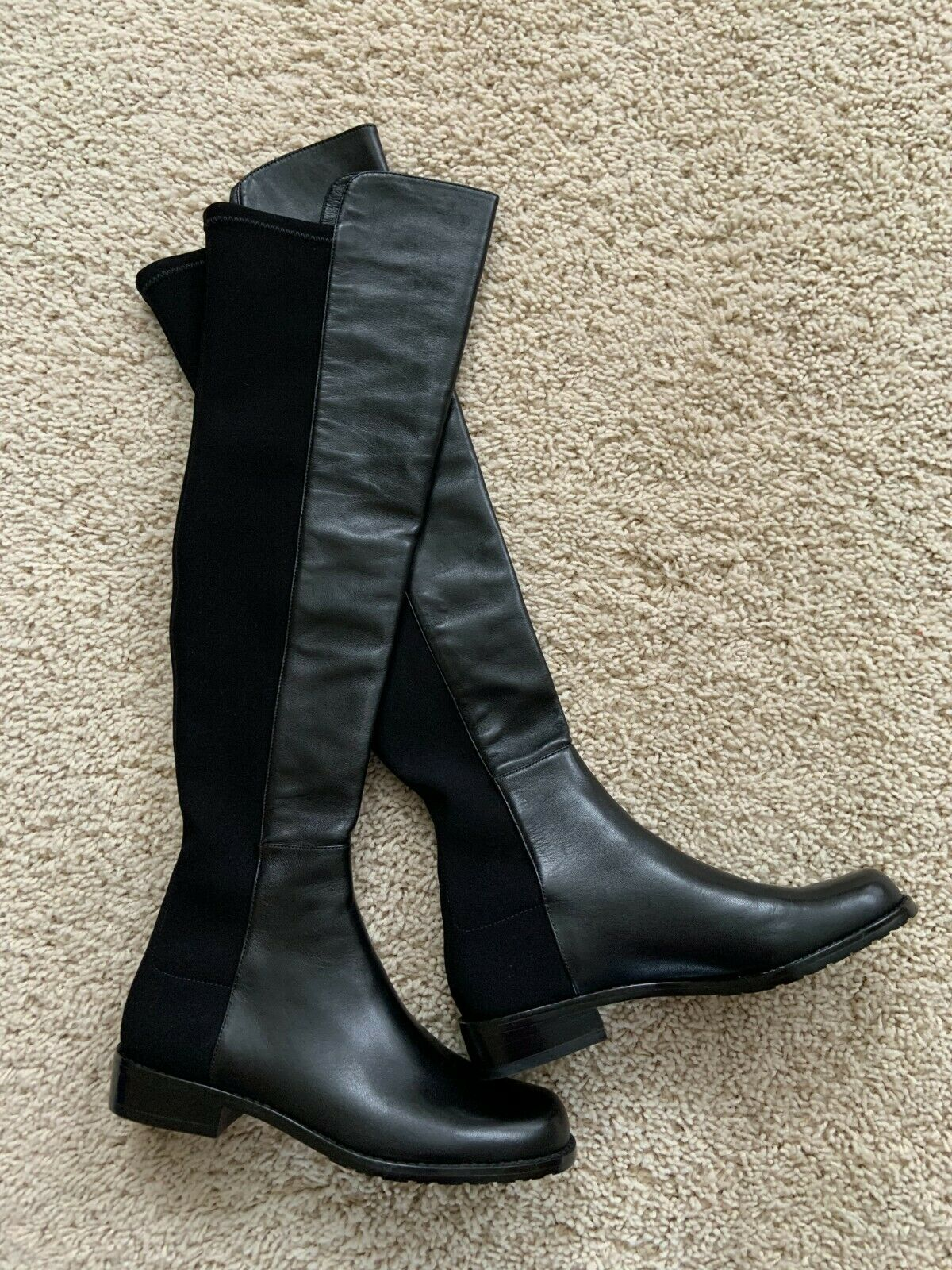 STUART WEITZMAN 5050 black nappa over the knee leather boots Size 4.5 NEW