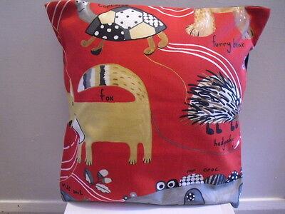 Homemade  novelty, cartoon  owls, fox, hedgehog, animals design  cushion  cover