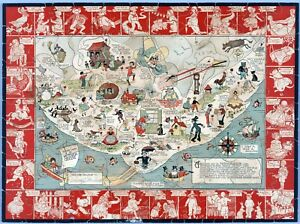 The-Land-of-Mother-Goose-1930-pictorial-map-POSTER-10118002