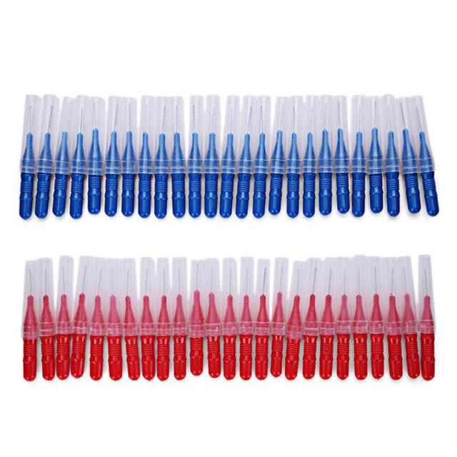 50Pcs/Set Brushing Teeth Interdental Brush Oral Cleaning Oral Teeth Care 62