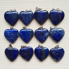 20mm natural Lapis Lazuli love heart stone pendants for jewelry making 25pcs/lot