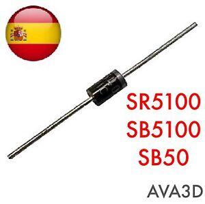 3pcs Sr5100 Sb5100 Sr5010 Sb5b0 Diodo Schottky Envío Rápido Remise En Ligne