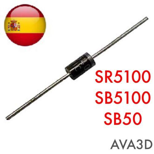 3pcs Sr5100 Sb5100 Sr5010 Sb5b0 Diode Schottky