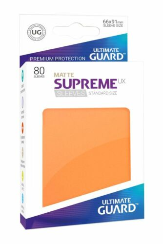 Ultimate Guard-Supreme UX sleeves estándar para maletero naranja 80 cartas fundas