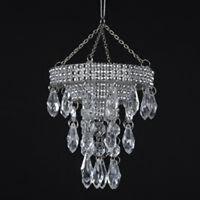 Kurt Adler Clear Bead Chandelier Ornament Home Furnishings