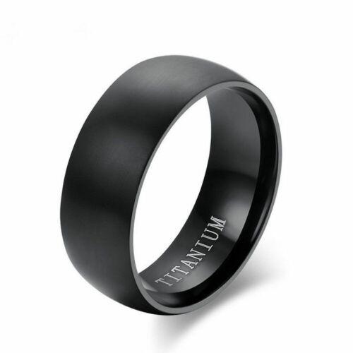 8mm Men Couple Titanium Steel Finger Fashion Wedding Engagement Rings Size 8-11