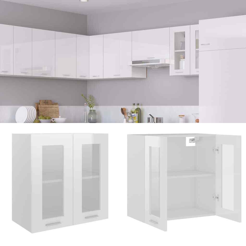 vidaXL Mueble de Cocina Aglomerado Blanco Brillante 60x31x60 cm Mobiliario