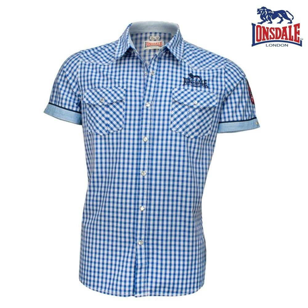 Lonsdale Herren Hemd Berny Kurzarm Men Shirt Kariert Boxing London S bis 3XL NEU    | Modern Und Elegant In Der Mode