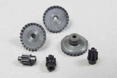 1 TYCO 440-X2 HP-X2 Slot Car GRAY Wheel SILICONE Tire Rear Ends w//25T Crown Gear
