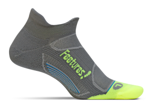Reflector Graphite Feetures Elite Light Cushion Sock -No Show Tab Size L