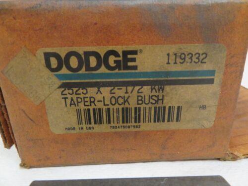 NEW DODGE 2525 X 2 1//2 KW TAPERLOCK BUSHING 2525212 119332
