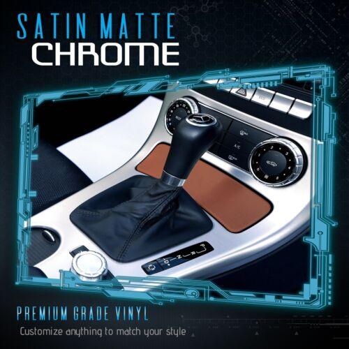 """24/"""" x 60/"""" Bronze Satin Matte Chrome Metallic Vinyl Wrap Sticker Bubble Free A"""