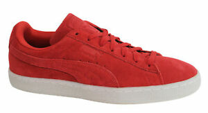 Puma-Suede-Classic-Coloured-Red-Lace-Up-Leather-Mens-Trainers-360850-02-M4