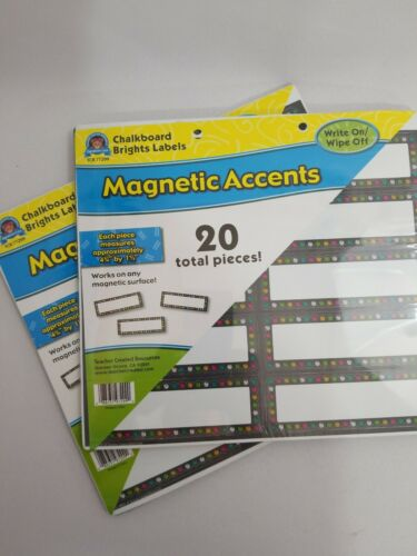 Chalkboard Brights Labels Magnetic Accents-40 Pcs 2x-Teacher Created Resources