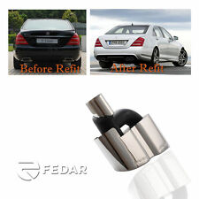 Fits Mercedes Benz AMG Style Exhaust Muffler Tips For W221 S Class S500 S550
