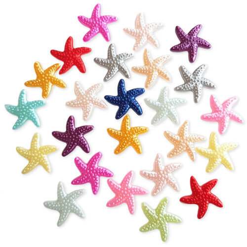 50pcs Mixed Starfish Flatback Pearl Embellishments Cabochon Scrapbooking Craft