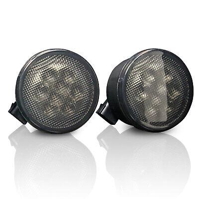 P.RA 2x LED Turn Signal Hazard Light Smoke Amber for 07-16 Jeep Wrangler JK TJ