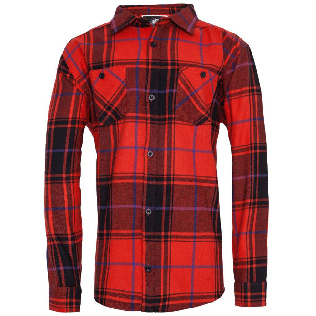 King Kerosin Holzfällerhemd - Blanko Rot | Deutschland Deutschland Deutschland Shops  033284
