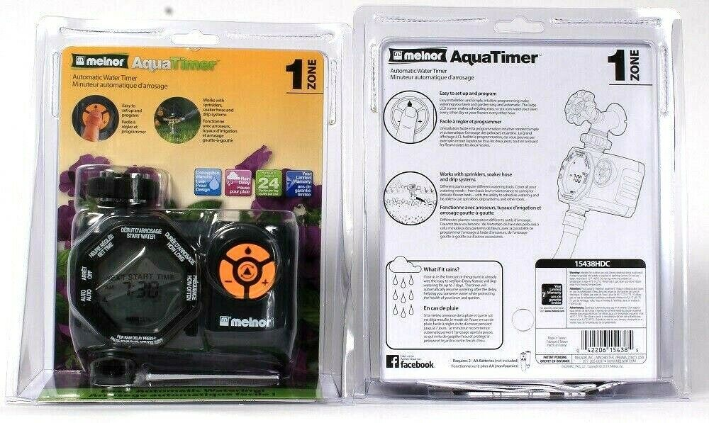 2 Ct Melnor AquaTimer 1 Zone Easy Automatic Water Timer Up To 24 Cycles Per Day