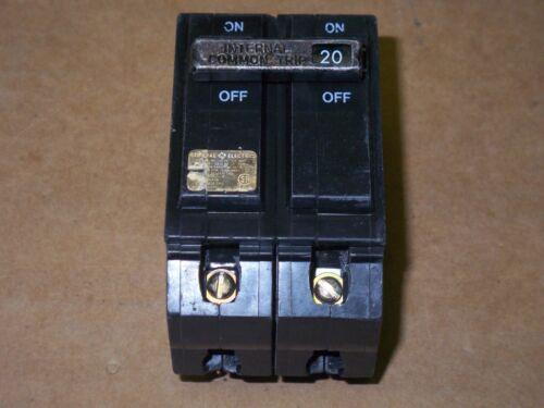 GE THQL THQL2120 2 pole 20 AMP Circuit Breaker PAPER LABEL