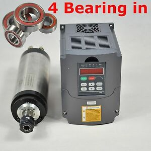 FOUR-BEARING-WATER-COOLED-SPINDLE-MOTOR-2-2KW-AND-FREQUENCY-INVERTER-VFD-DRIVE