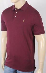 Polo Ralph Lauren Burgundy Cotton Interlock Shirt Classic Fit Multi Color Pony N