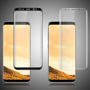 For Samsung Galaxy S8 Plus Tempered Glass FULL COVERAGE Curved Screen Protector