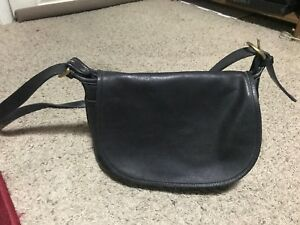 COACH-Soho-Fletcher-Black-Leather-4150-Purse-Crossbody-Bag-Vintage
