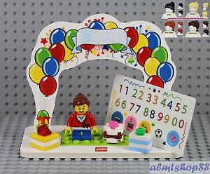 Super Lego Birthday Set W Girl Minifigure Presents Cake Topper Funny Birthday Cards Online Alyptdamsfinfo