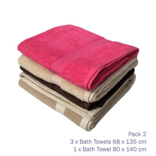 Set of 3 OR Set of 4-100/% Cotton Towels Cloths Bath Towels
